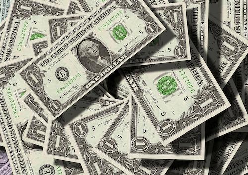 a bunch of 1 dollar bills