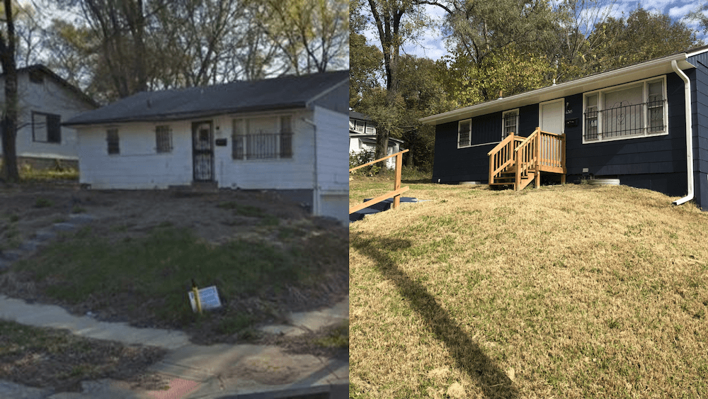 before and after renovation of a home that house guys usa bought